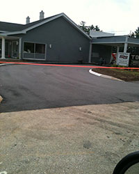 Paving Parking Lot for Bank