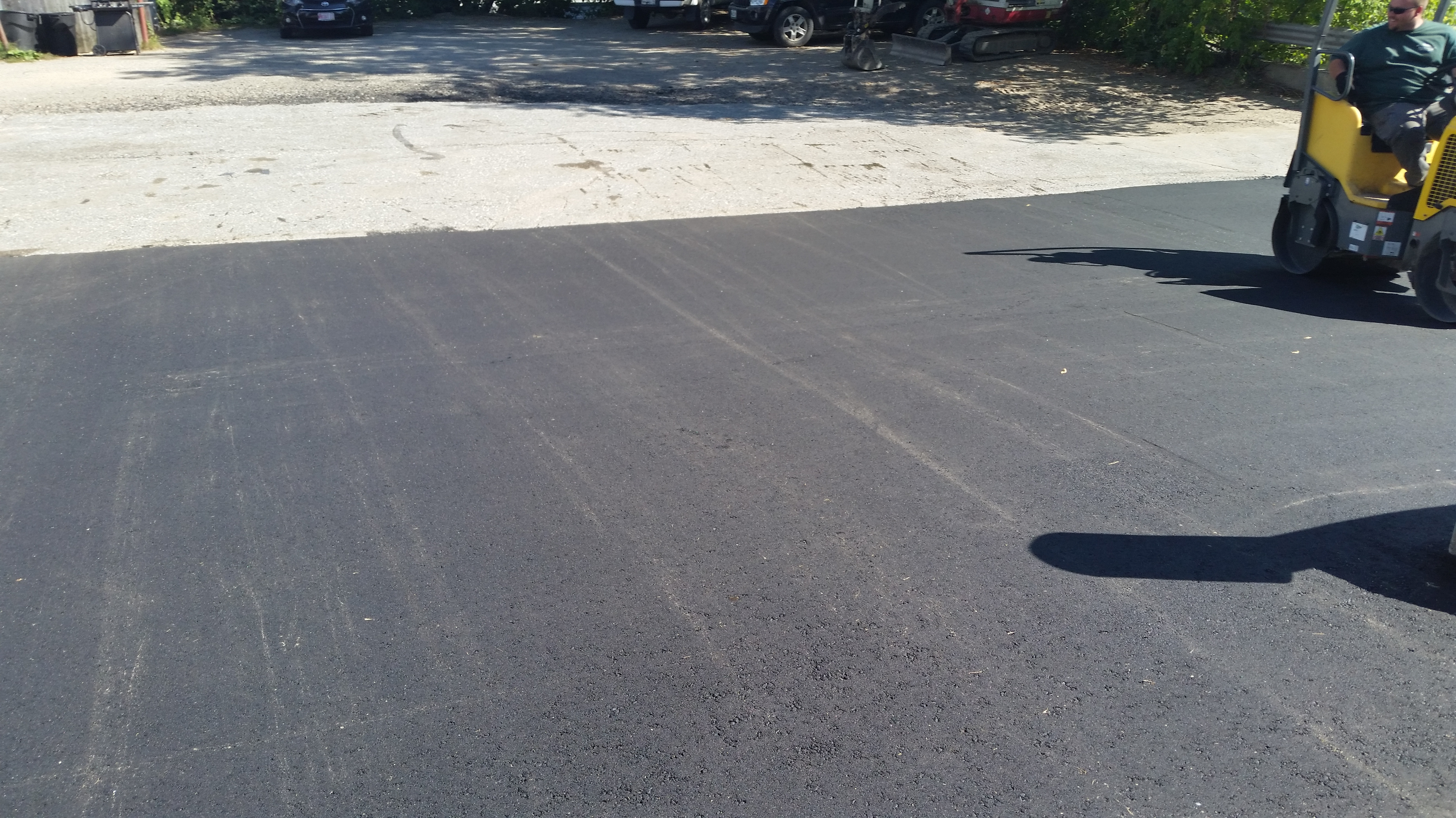 Paving project in Lewiston, ME.
